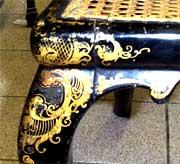 папье-маше, фрагмент стула